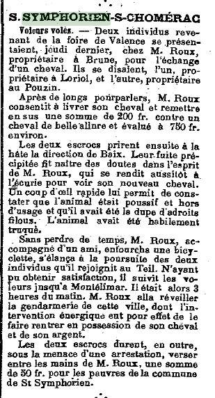 Le journal d aubenas sept 1905